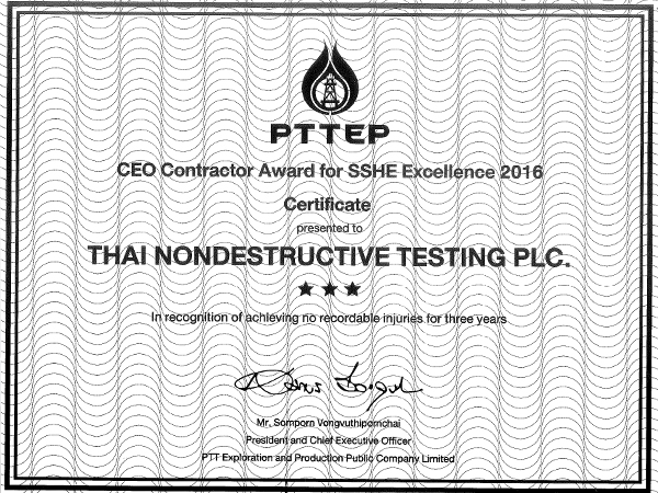 CEO Contractor Award for SSHE Excellence